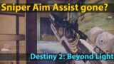 Breakdown: Bungie removed Aim Assist from Snipers (Destiny 2: Beyond Light)