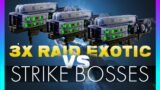 Destiny 2 Beyond Light | EYES OF TOMORROW VS STRIKE BOSSES | Raid Exotic TEST (no Heavyweight)