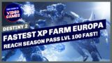 Destiny 2 – FASTEST XP FARM on Europa for LEVELLING UP Your SEASON PASS in Beyond Light