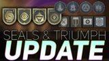Seals, Triumphs, & the DCV (Evolving Triumphs) | Destiny 2 Beyond Light