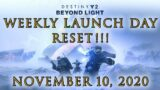 Destiny 2 Beyond Light Weekly Reset LAUNCH DAY – Eververse Refresh Crucible Vanguard Gambit Changes
