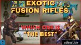 What Is The Best Exotic Fusion Rifle? [Destiny 2 Beyond Light]