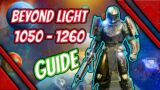 destiny 2 beyond light full guide on how to level up fast