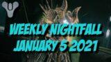 Destiny 2 Beyond Light – Weekly Nightfall – January 5 2021