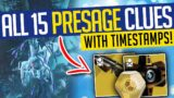 Destiny 2 | ALL 15 PRESAGE CLUES! Every Scannable w/ Timestamps! Season of the Chosen
