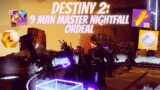 9 MAN 1330 MASTER NIGHTFALL ORDEAL!!! | Destiny 2 Beyond Light Season Of The Chosen | #Shorts