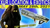 XUR Location And Exotics For May 28th, 2021- Beyond Light (Destiny 2)