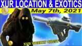 XUR Location And Exotics For May 7th, 2021- Beyond Light (Destiny 2)